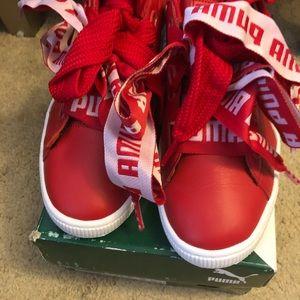 Puma Basket Heart Sneaker size 10us